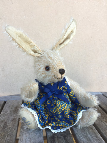 Bunny Blue - KiwiCurio-Robin Rive-Teddy Bears-Limited Edition