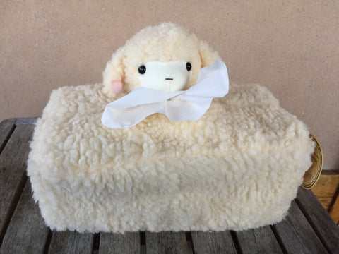 Cream lamb head  toilet box cover - KiwiCurio-Robin Rive-Teddy Bears-Limited Edition