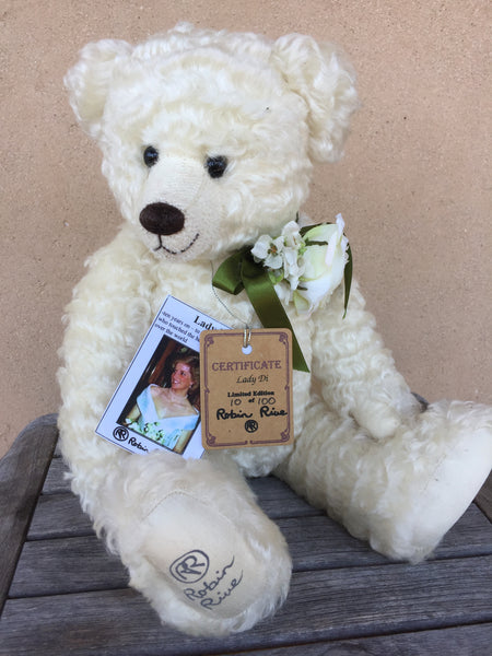 Lady Di - KiwiCurio-Robin Rive-Teddy Bears-Limited Edition