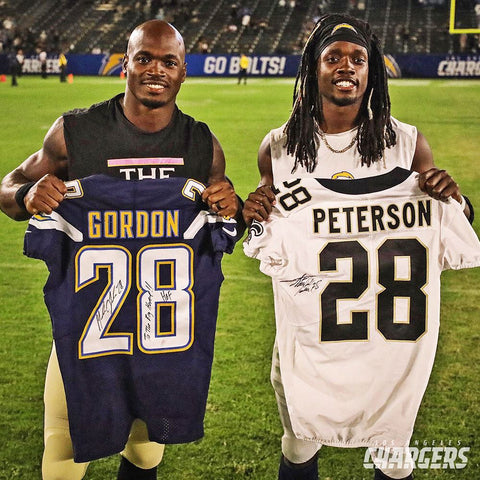 Adrian Peterson, Melvin Gordon have formed mentor-protégé relationship in offseason workouts
