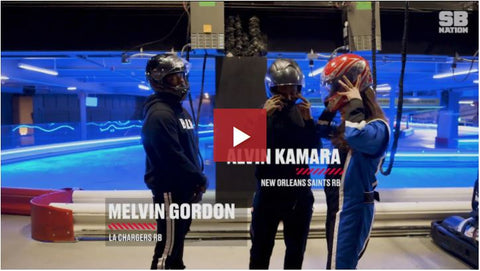 Watch Melvin Gordon and Alvin Kamara race go-karts to see who wins