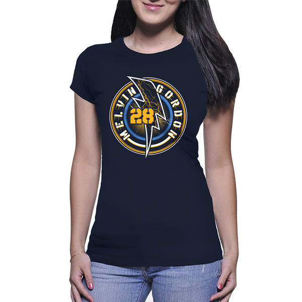 Official Melvin Gordon Flash 28 Shirt Womens