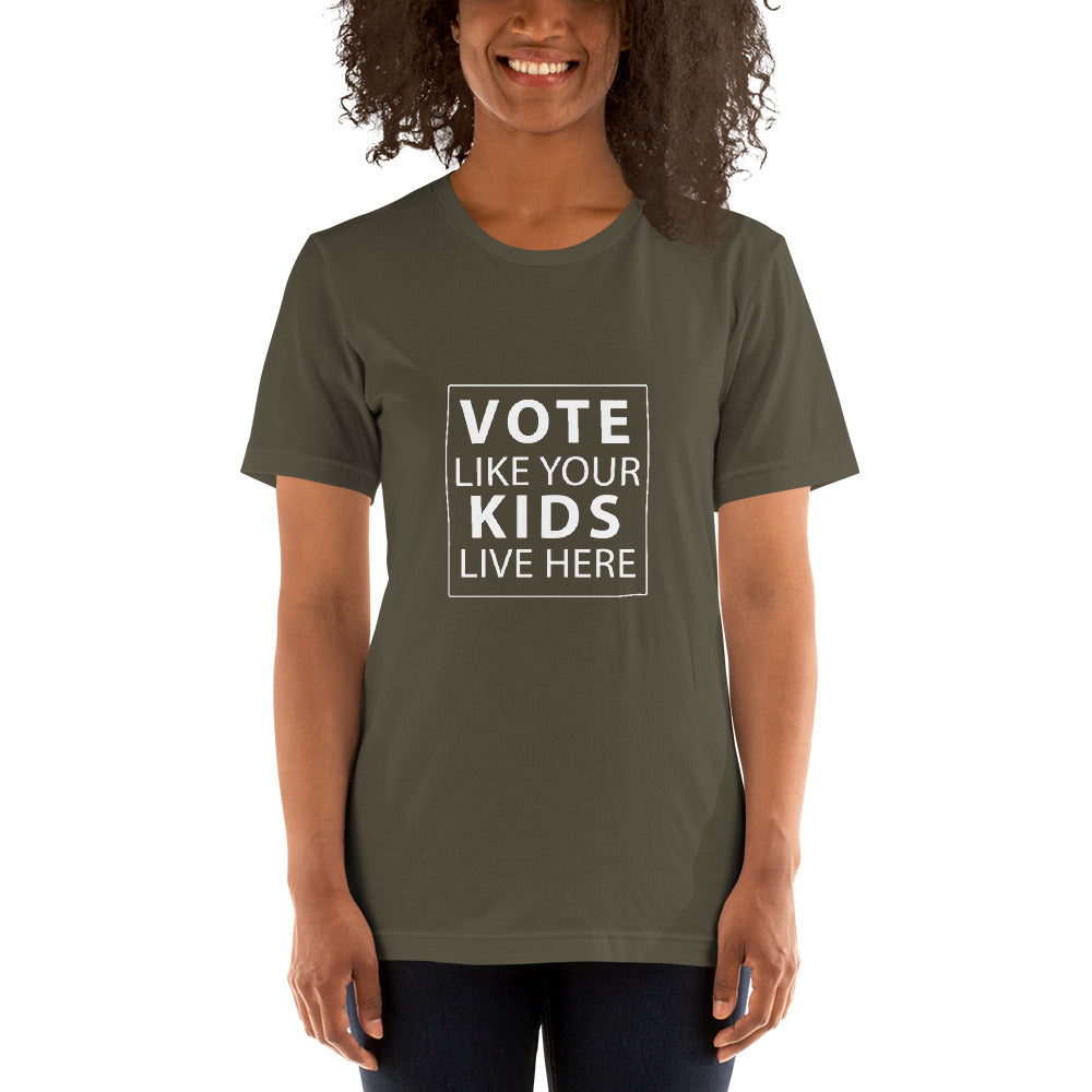 Vote Like Your Kids Live Here - Womens (Let America Vote)