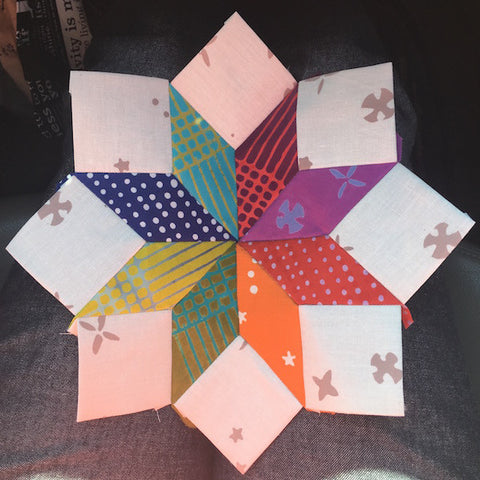 English Paper Piecing Center Star an Square Ring