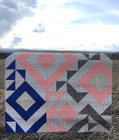 Triangle Jitters Quilt Kit Finished