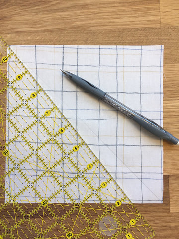 Triangle Jitters Quilt Kit HST Marking