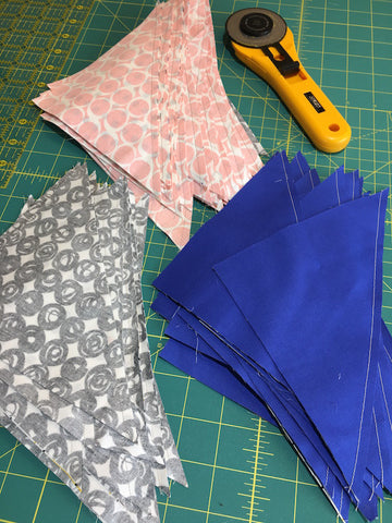 Triangle Jitters Quilt Kit All Cut Apart