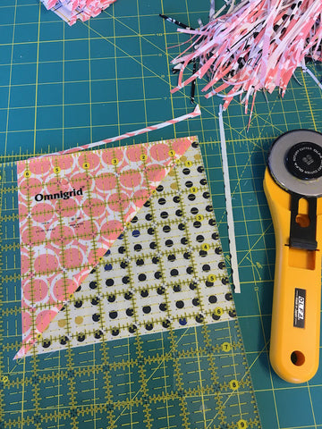 Triangle Jitters Quilt Kit Trim Down