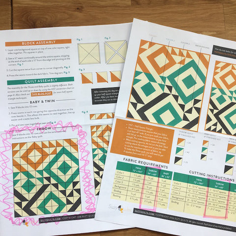 Triangle Jitters Quilt Kit Pattern