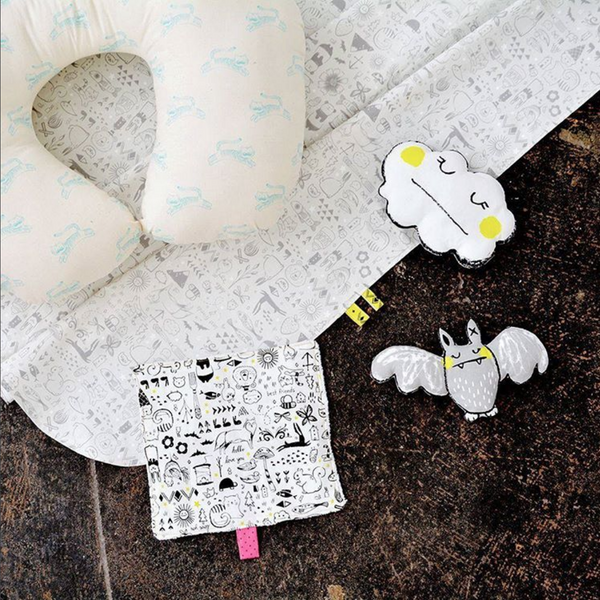 baby gear for the discerning baby - cotton + steel sleep tight fabric by sarah watts
