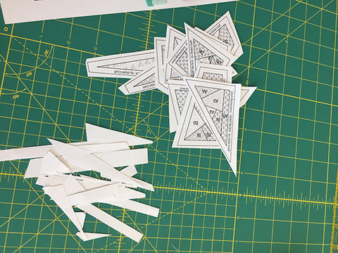 heart abstractions foundation paper piecing pattern cut out