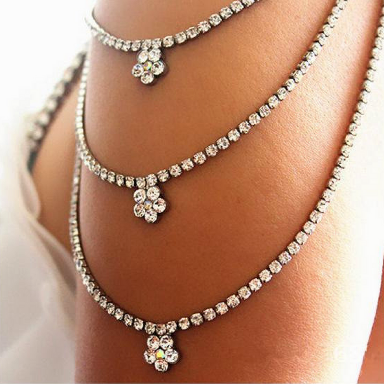 Radiant Rhinestone Shoulder