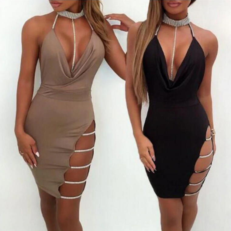 Lauren Backless Mini Dress