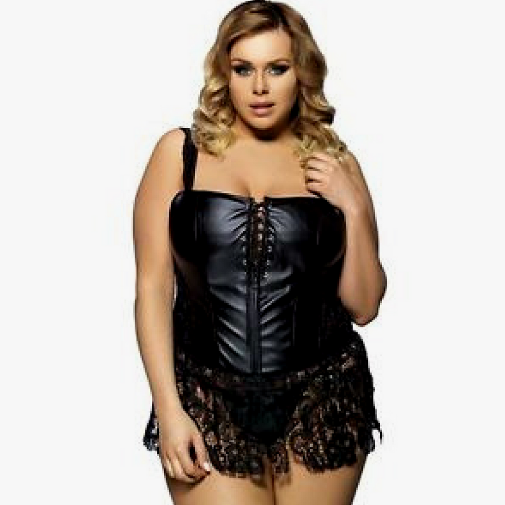 Andrea Faux Leather Corset