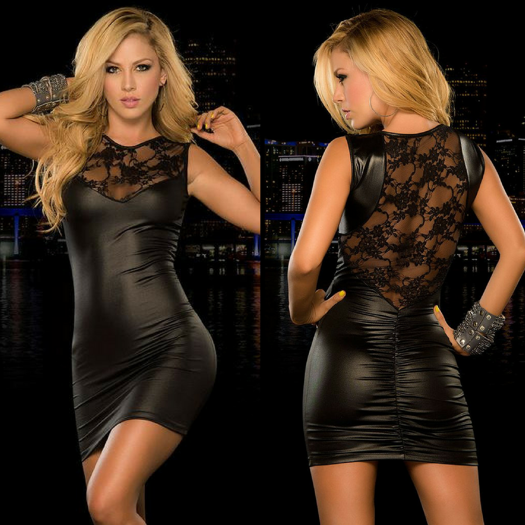 Valentina Faux Leather Dress