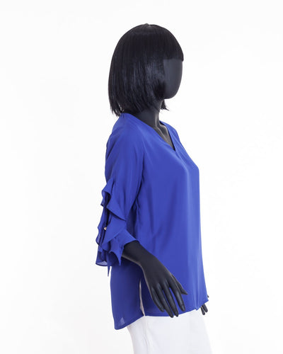 V-Neck Blouse - The Gaspy Collection
