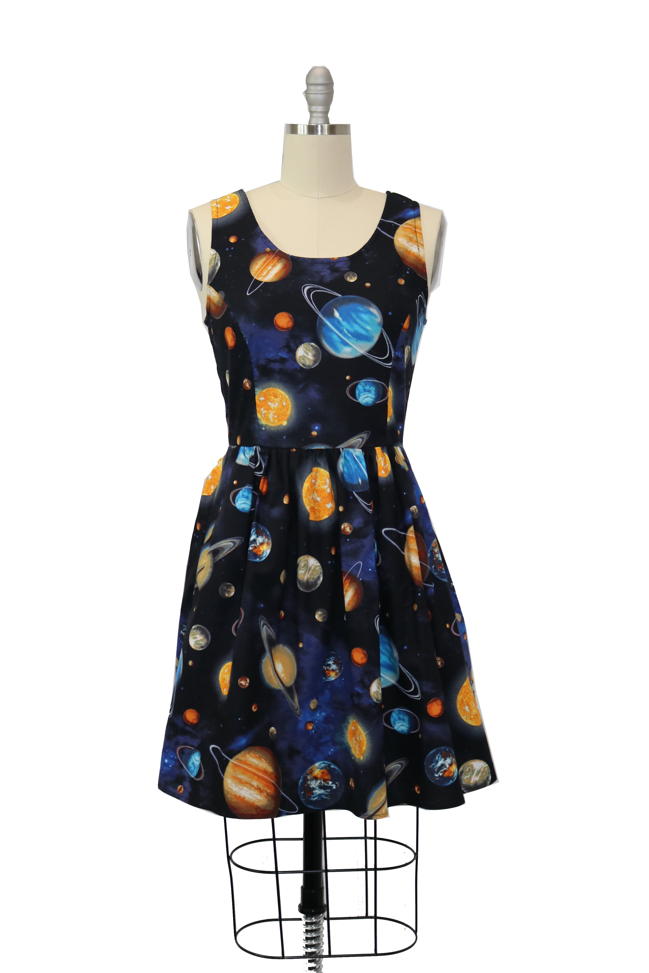 1960s Dresses | 60s Dresses Mod, Mini, Jakie O, Hippie Be an Outer Space Girl and Rocket to the Moon in this Galactic A-line Dress $45.00 AT vintagedancer.com
