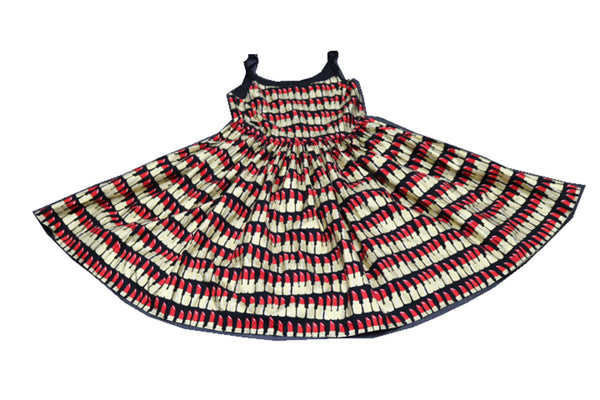 Hauteliner 1950s Classic Style Red Lipstick Dress Made in USA