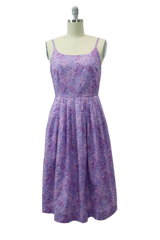 Hauteliner Summer Lightweight Cotton A-line Dress in Lilac