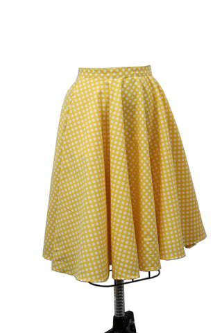 Hauteliner Polka Dot Circle Skirt Made in USA