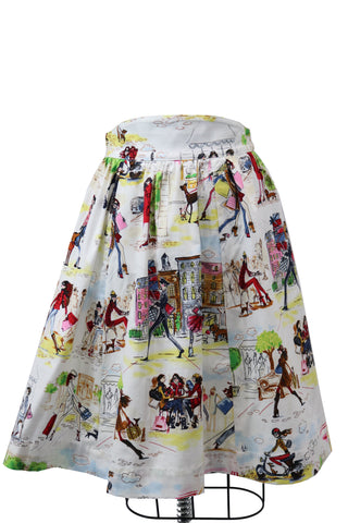 Hauteliner Walking Your Dog Full Skirt Made in USA