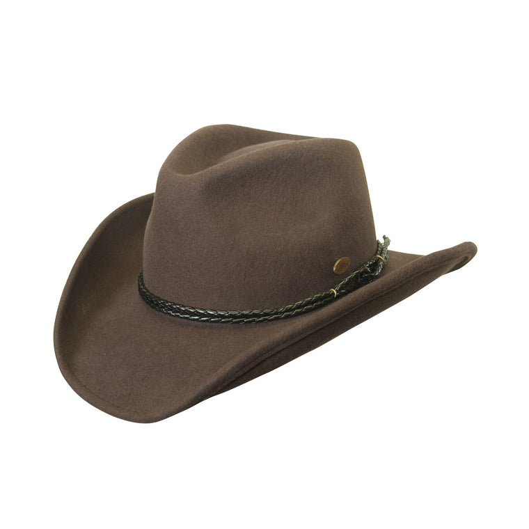 Outlaw Western Shapeable Wool Hat (Brown)