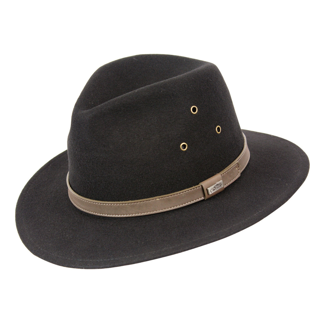 Breckenridge Wool Outback Hat (Black)