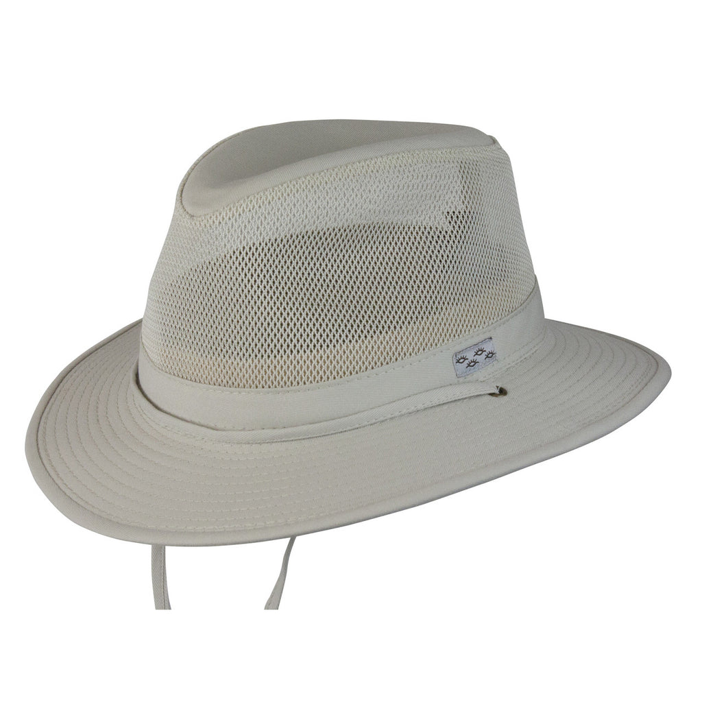 Pueblo Mesh Cotton Safari Hat (Oatmeal)