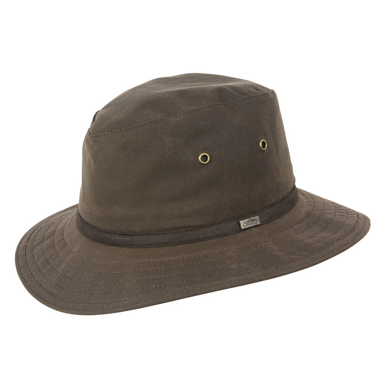 Portland Safari Rain Hat (Brown)