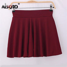 Summer and winter Skirt for Women 2016 Fashion Skirts Womens High Waist Sexy mini faldas jupe Black and Red Saia pleated skirt