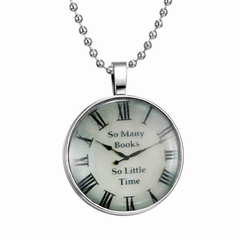 2016 Luminous Creative Clock Time Charm Alloy Pendant Necklace New Fashion Men Women Jewelry