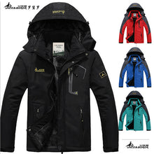 2016 hot Brand Luo Baoluo winter jacket men Plus velvet warm wind parka 6XL plus size black hooded winter coat men