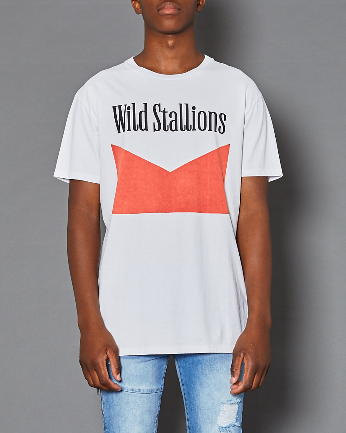 Wild Stallions Relaxed Fit T-Shirt White