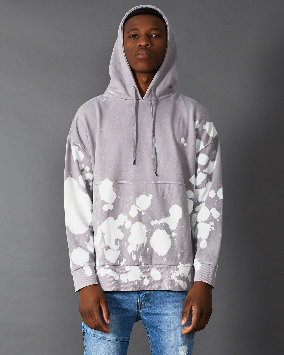 Bound Hooded Sweater Gull Grey