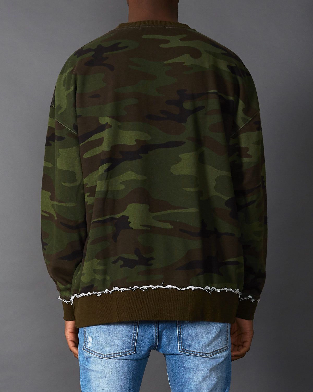 Bulldozer Drop Shoulder Sweater Camo