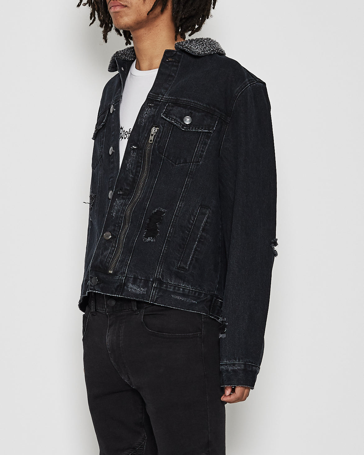Jeneau Denim Jacket Vintage Black