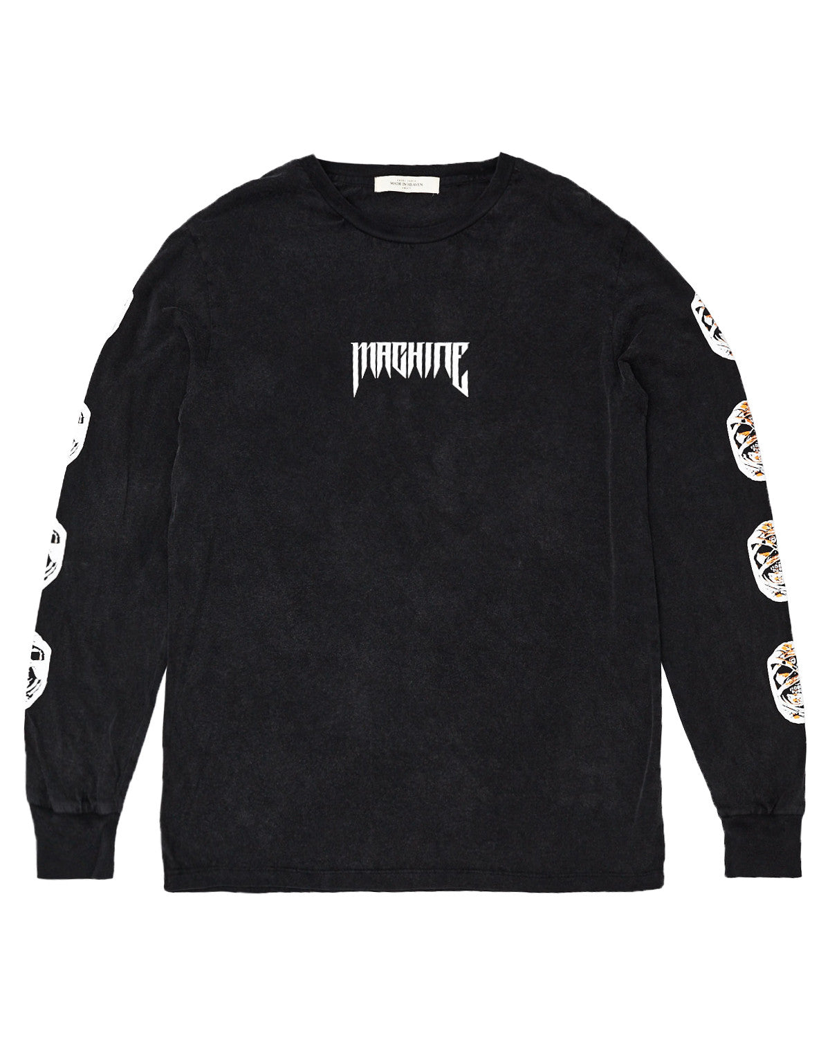 Machine Long Sleeve T-Shirt Vintage Black