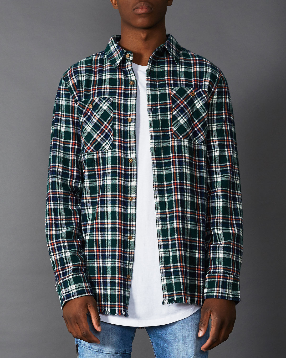 Montana Long Sleeve Shirt Green Check