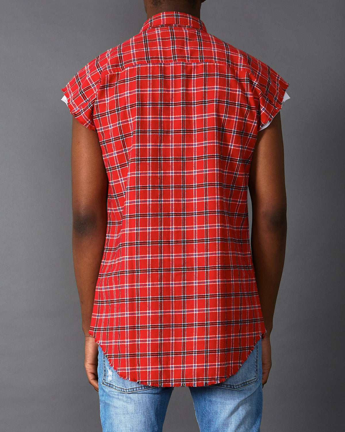 Scorpion Cap Sleeve Shirt Blue/Red Check