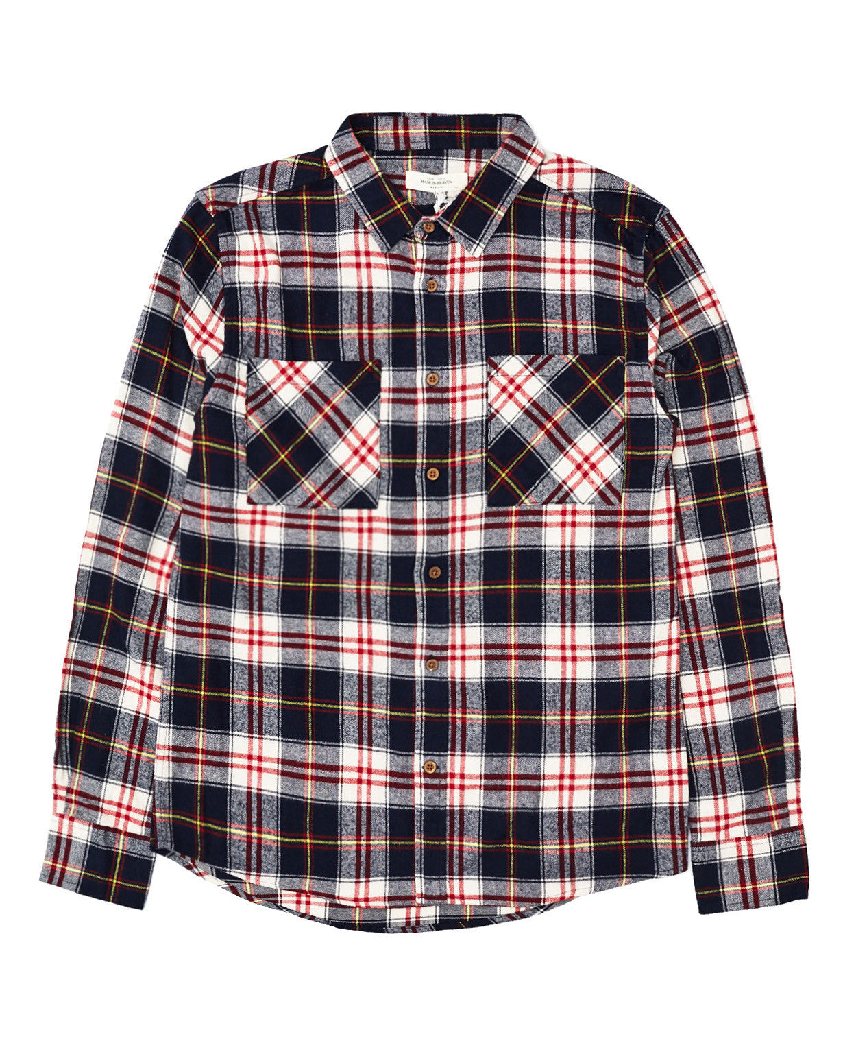 Skid Row Long Sleeve Shirt Dark Navy Check