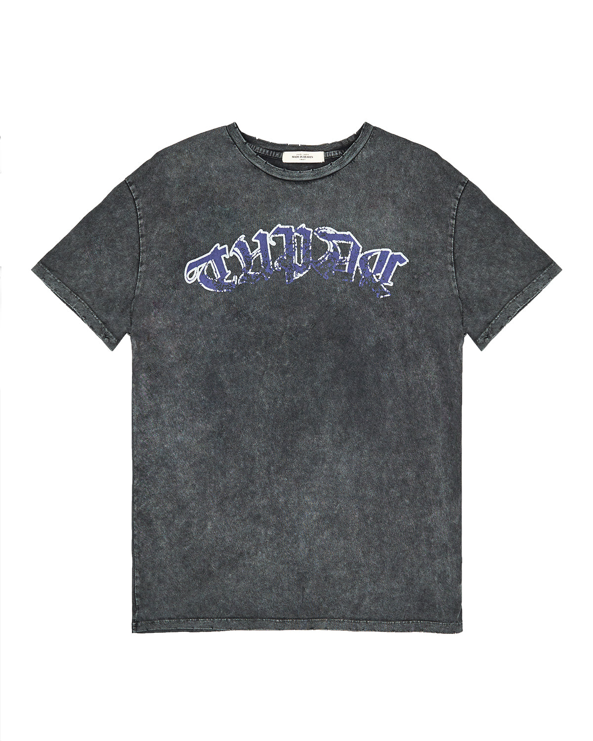 Tupac Relaxed Fit T-Shirt Acid Vintage Black