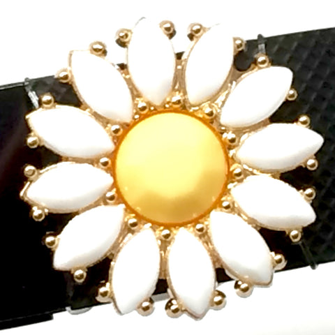 yellow and white floral bling on Charge fitness band