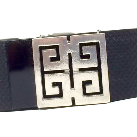 Closeup of lead free pewter greek key design Fitband Bling fitness band charm accessory on Fitbit Charge HR