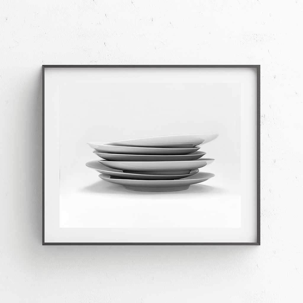 Tumbling Plates Fine Art Print - Luxurious Walls