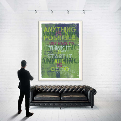 Anything Is Possible Original Painting - Luxurious Walls