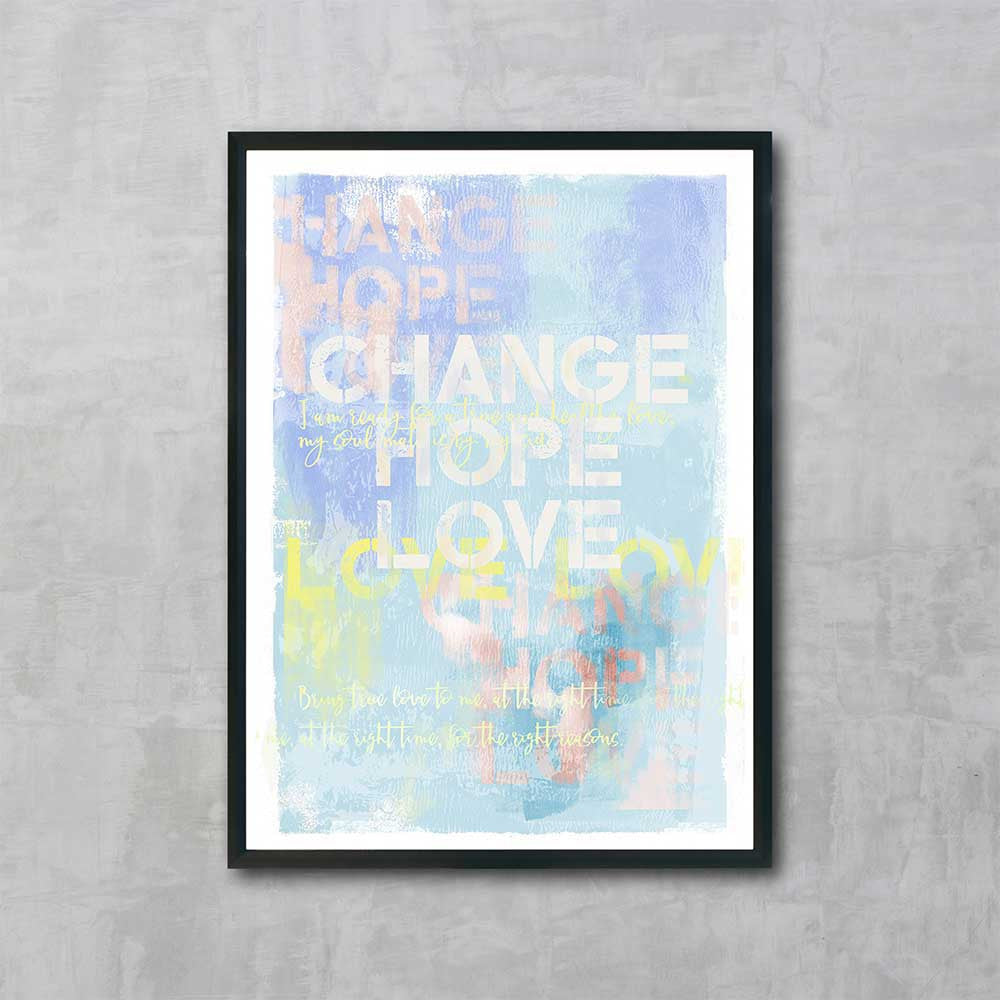 Change Hope Love Prayer Original Painting - Luxurious Walls