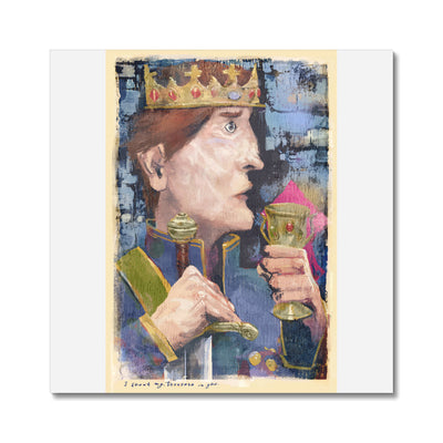 King-day-dreaming-with-text canvas prints stretchedCanvas38mm - Luxurious Walls