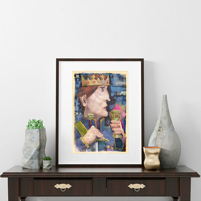 King Daydreaming Fine Art Print - Luxurious Walls
