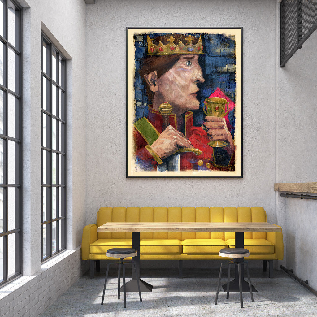 King Original Fine Art Print - Luxurious Walls
