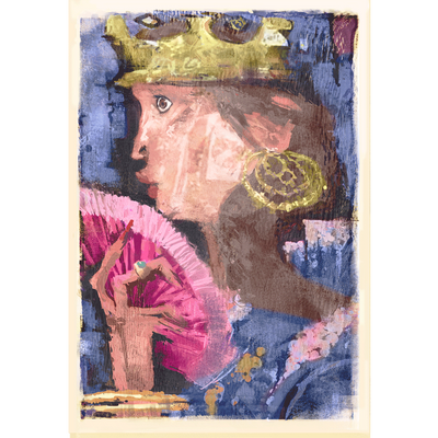Queen Daydreaming Fine Art Print - Luxurious Walls